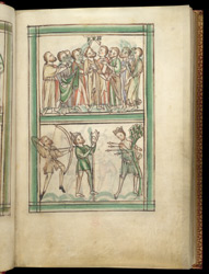 The Ascension And The Martyrdom Of St. Edmund, In A Psalter